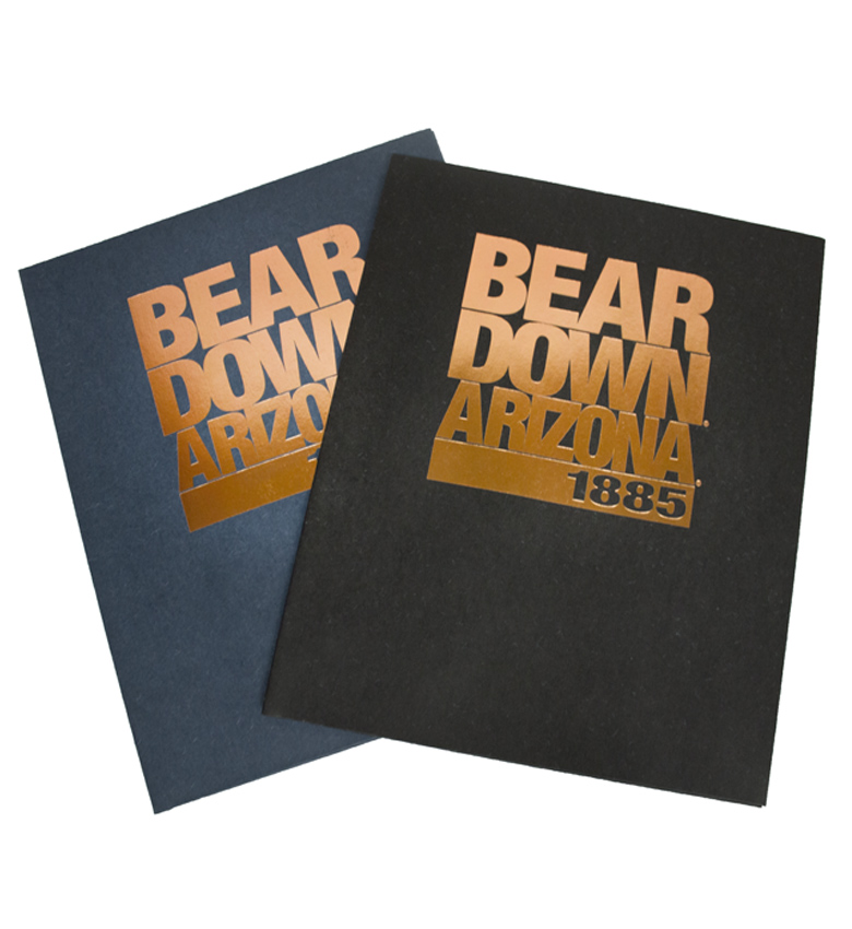 "Folder: ""Bear Down Arizona 1885"" Foil Copper Folder"
