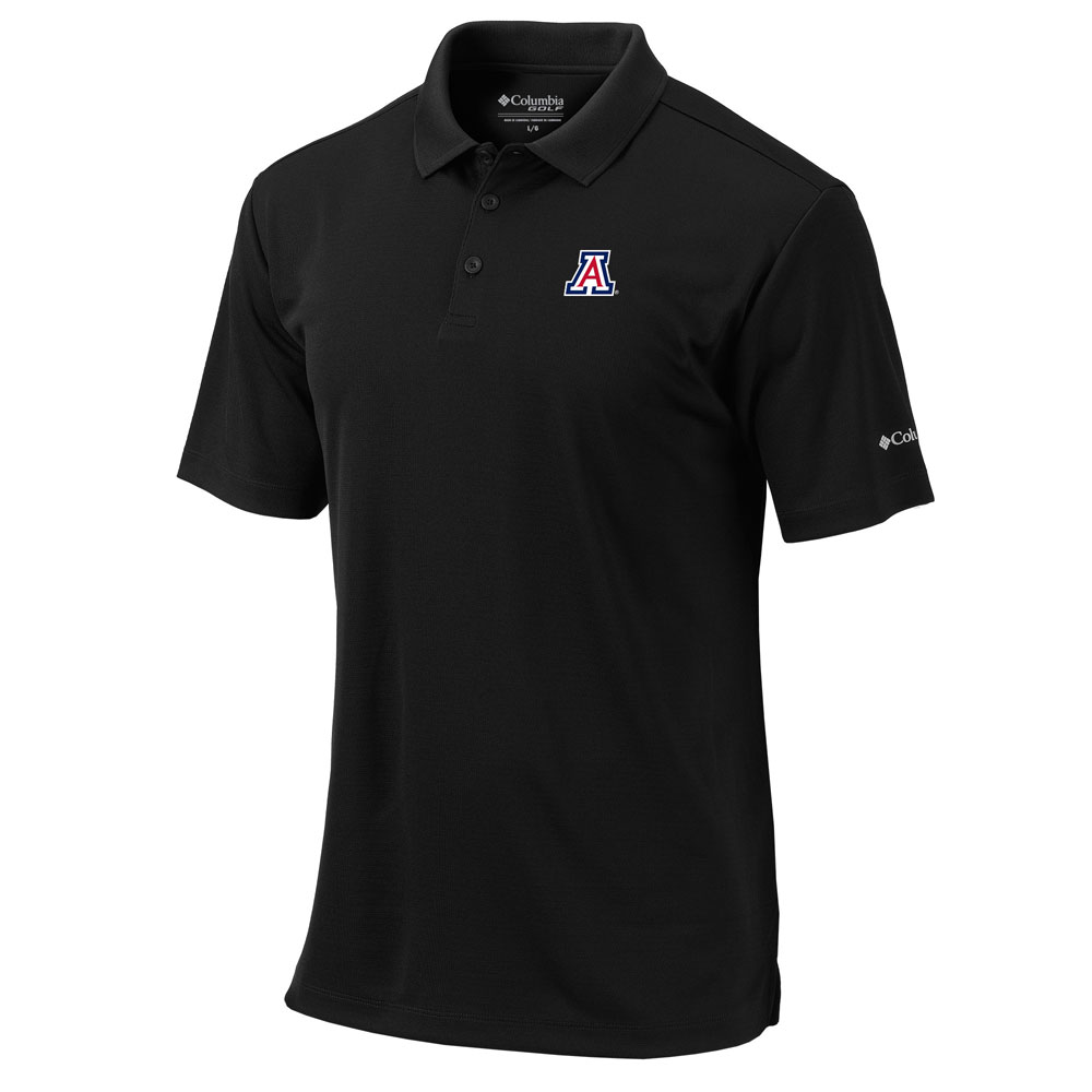 Columbia: Arizona Omni-Wick Round One Black Golf Polo