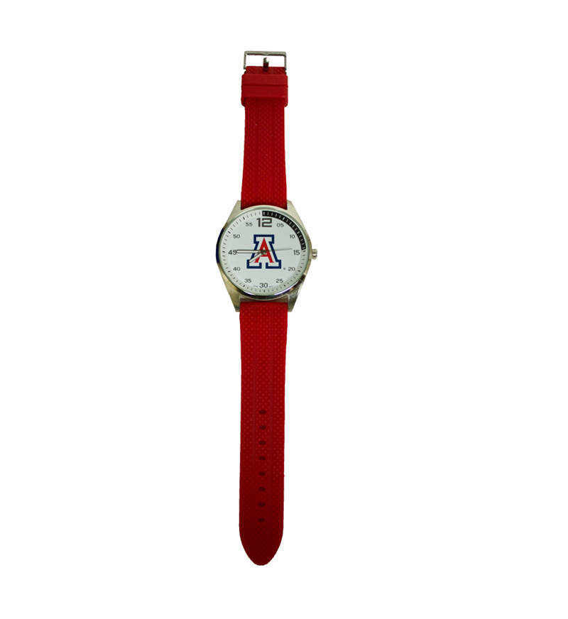 Watch: Arizona Men's Red Silicone By Pacific Silver