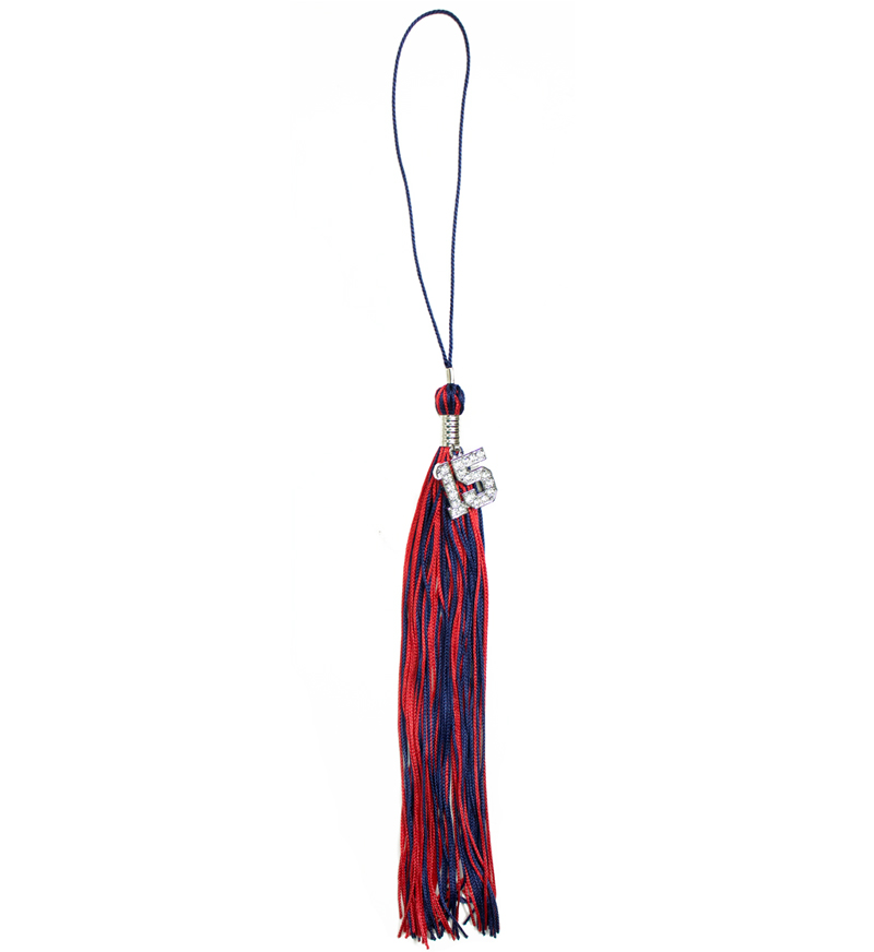 Red & Navy Tassel (Bling)