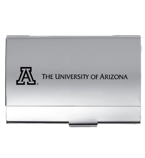 LXG Silver 'A' Arizona Eller Business Card Holder