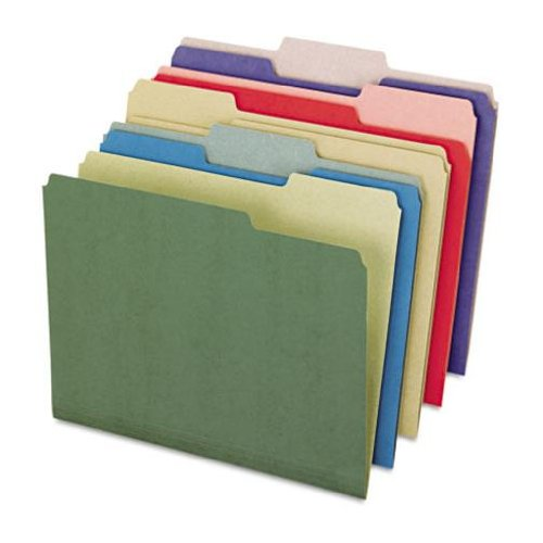 EarthWise 100% Recycled File Folders - 50 Count