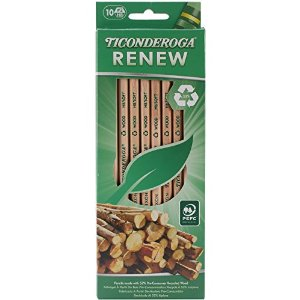 Ticonderoga Renew Recycled No. 2 Pencils 10-Pack
