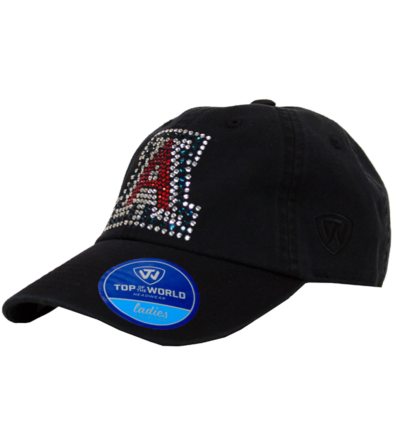 Arizona Ladies Black Bling Adjustable Hat