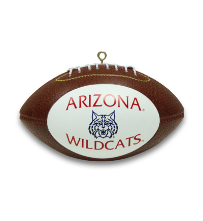 "3 1/2"" Arizona Wildcats Football Ornament"