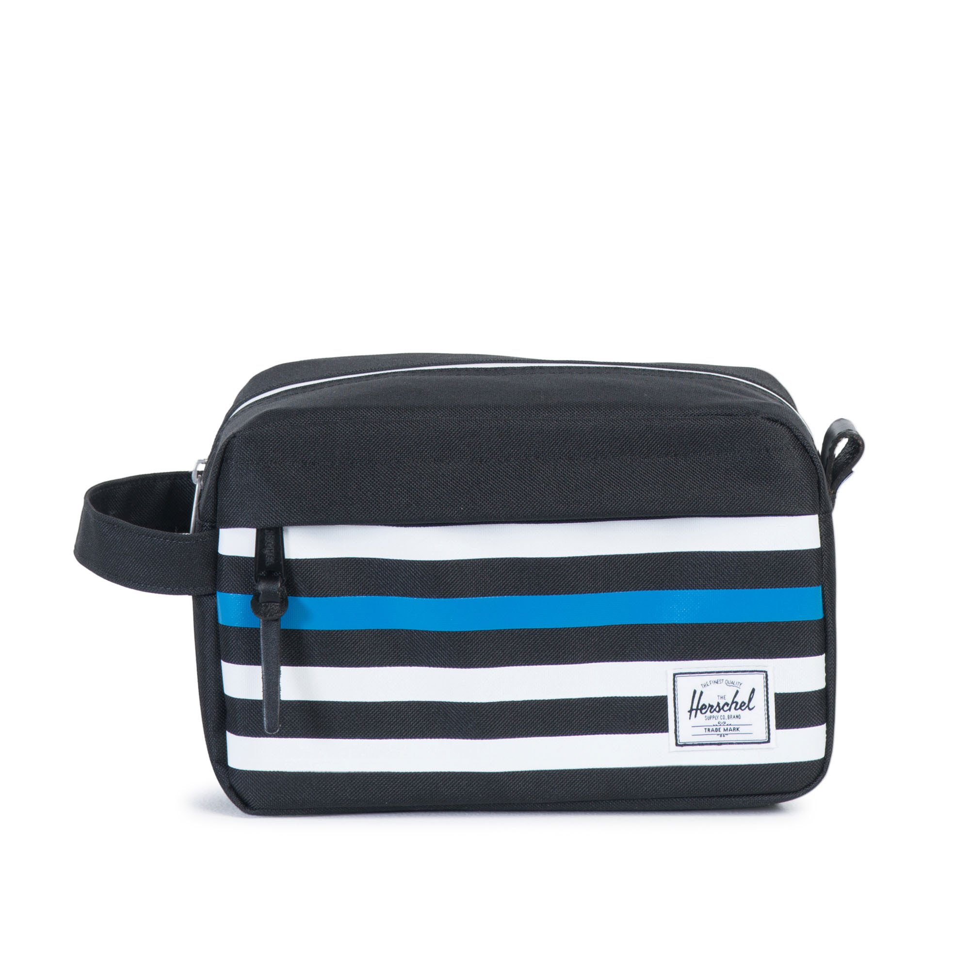Herschel Chapter Travel Kit Black Offset Stripe/Black