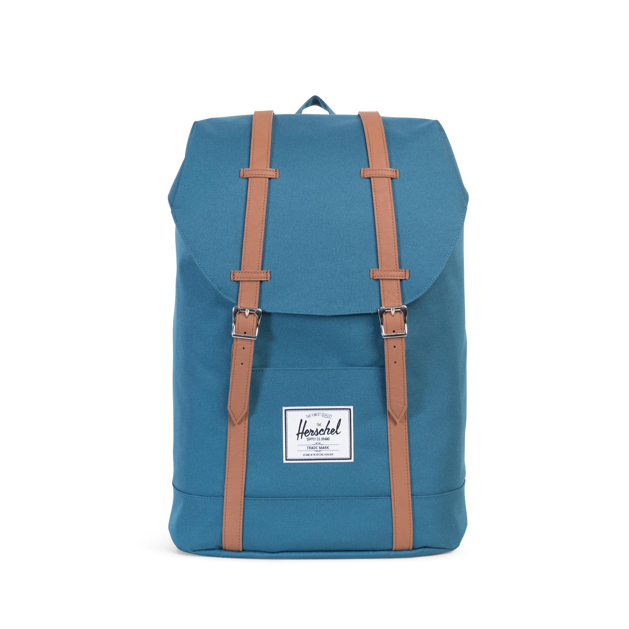 Herschel Retreat Backpack Indian Teal/Tan Synthetic Leather