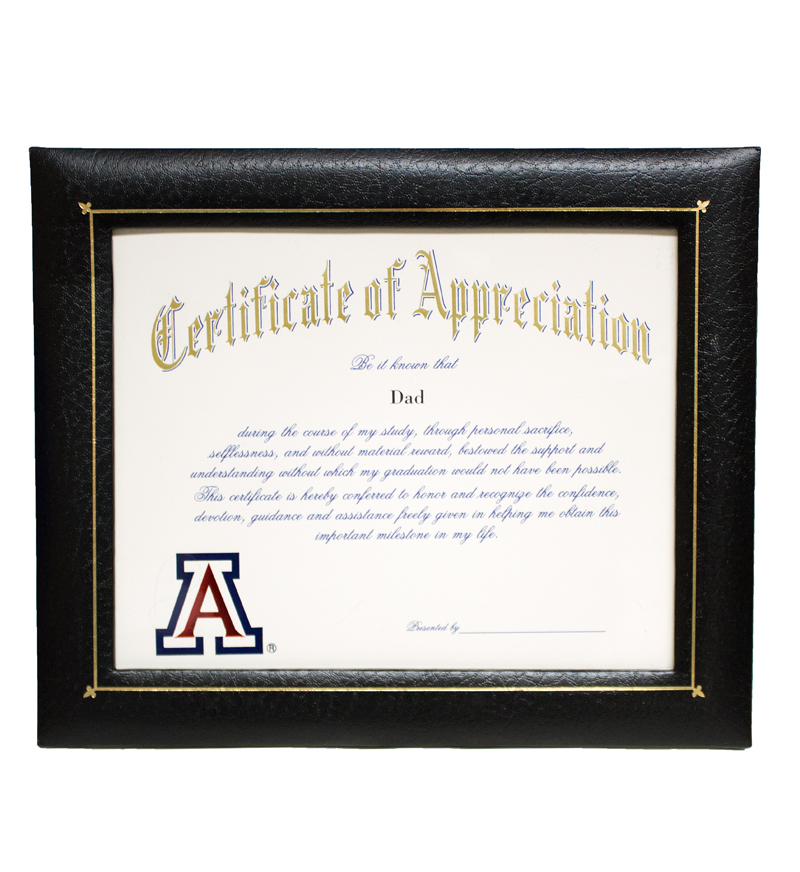 Certificate of Appreciation: Dad
