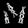 Greek Sterling Silver Lavalier Vertical Letters thumbnail