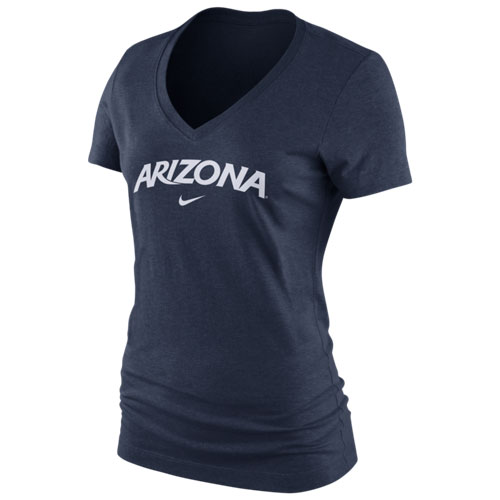 Nike: Arizona Arch Women's Navy Mid V-Neck T-Shirt