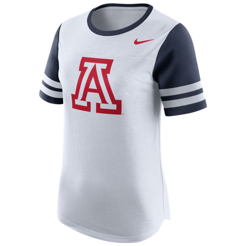 Nike: Arizona Wildcats Women's Modern Fan White Tee