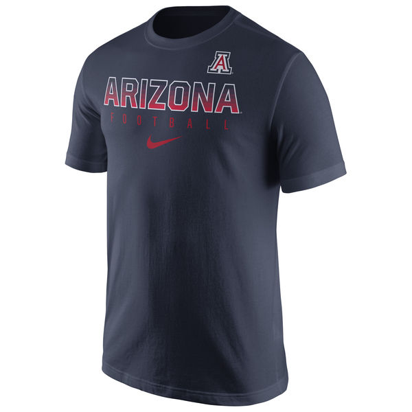 Nike: Arizona Wildcats 2016 Football Practice Navy T-Shirt