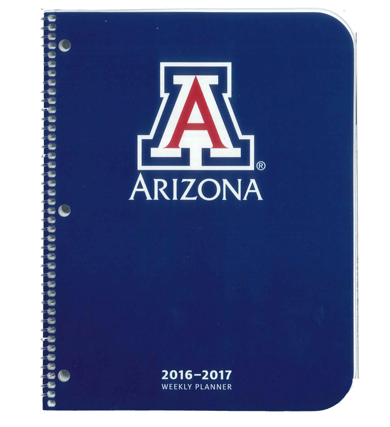 2016-2017 Arizona Wildcats Weekly Planner