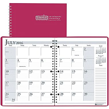 House of Doolittle Academic Monthly Appointment Planner