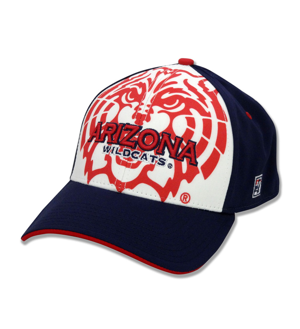 The Game: Arizona Wildcats Navy/Red Face Cap