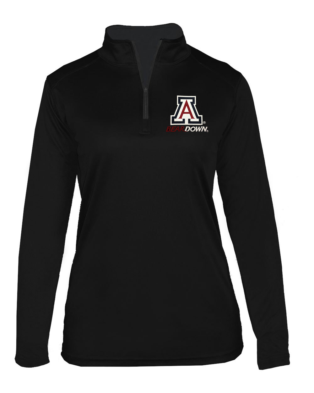 Badger Sport: Arizona Bear Down Women's B-Core 1/4 Zip Black