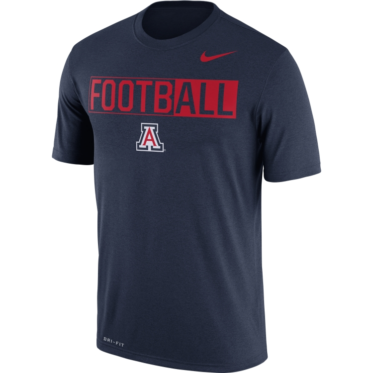 "Nike: Arizona Wildcats Legend ""FootbALL"" Navy Tee"