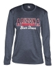Badger Sport: Arizona Bear Down Pro Heather Ladies Navy Tee thumbnail