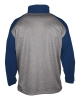 Badger Sport: Arizona Heather 1/4 Zip Steel Heather/Navy thumbnail