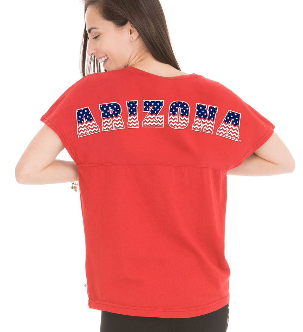 Venley: Arizona Callie Football Tee Red