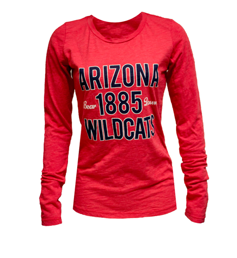 Arizona Beardown 1885 Wildcats Red Long Sleeve Shirt