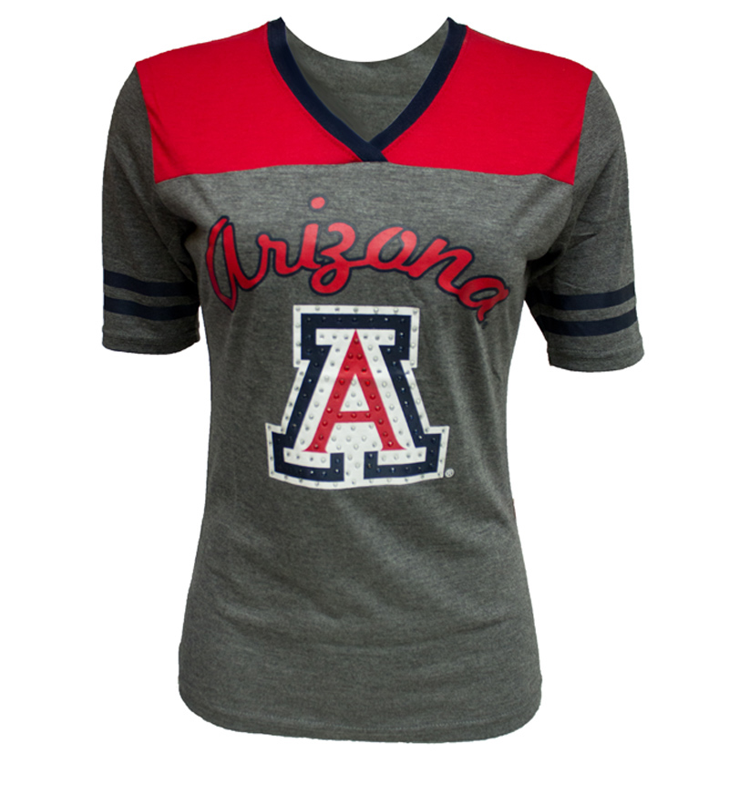 Colosseum: Arizona Twist V-Neck Rhinestone Tee