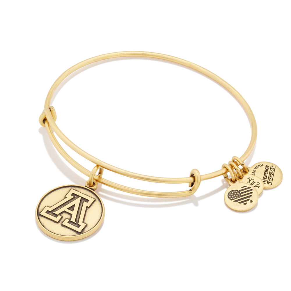Alex and Ani: University of Arizona Charm Bangle Gold