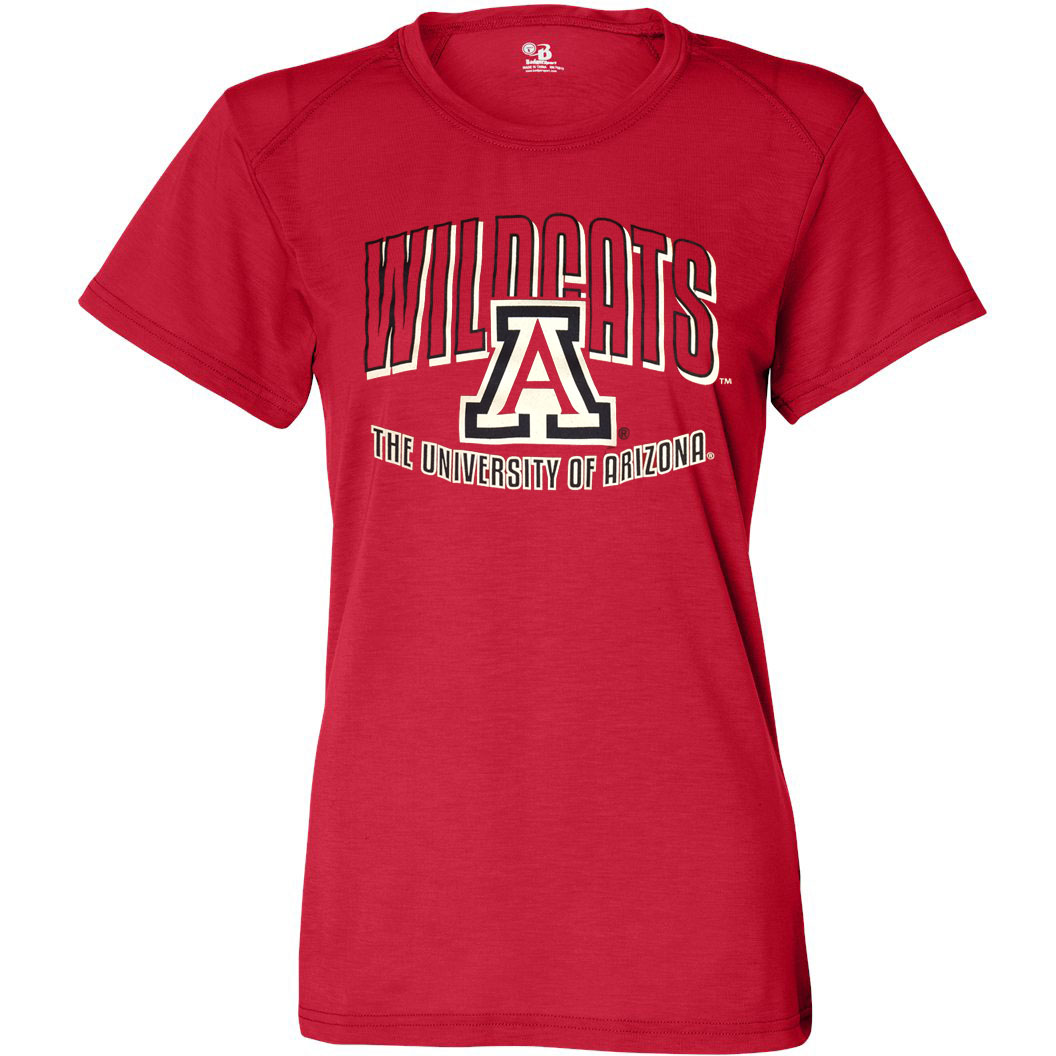 Badger Sport: Arizona Wildcats B-Tech Cotton-Feel Tee Red