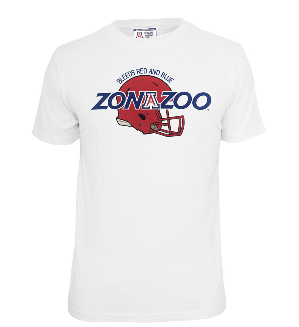 Official Arizona Wear: Zona Zoo Bleeds Red & Blue Tee White