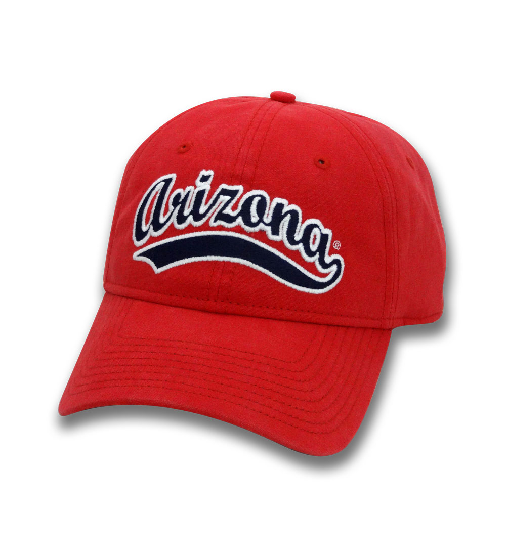 The Game: Arizona Softball Script Relaxed Canvas Cap Red