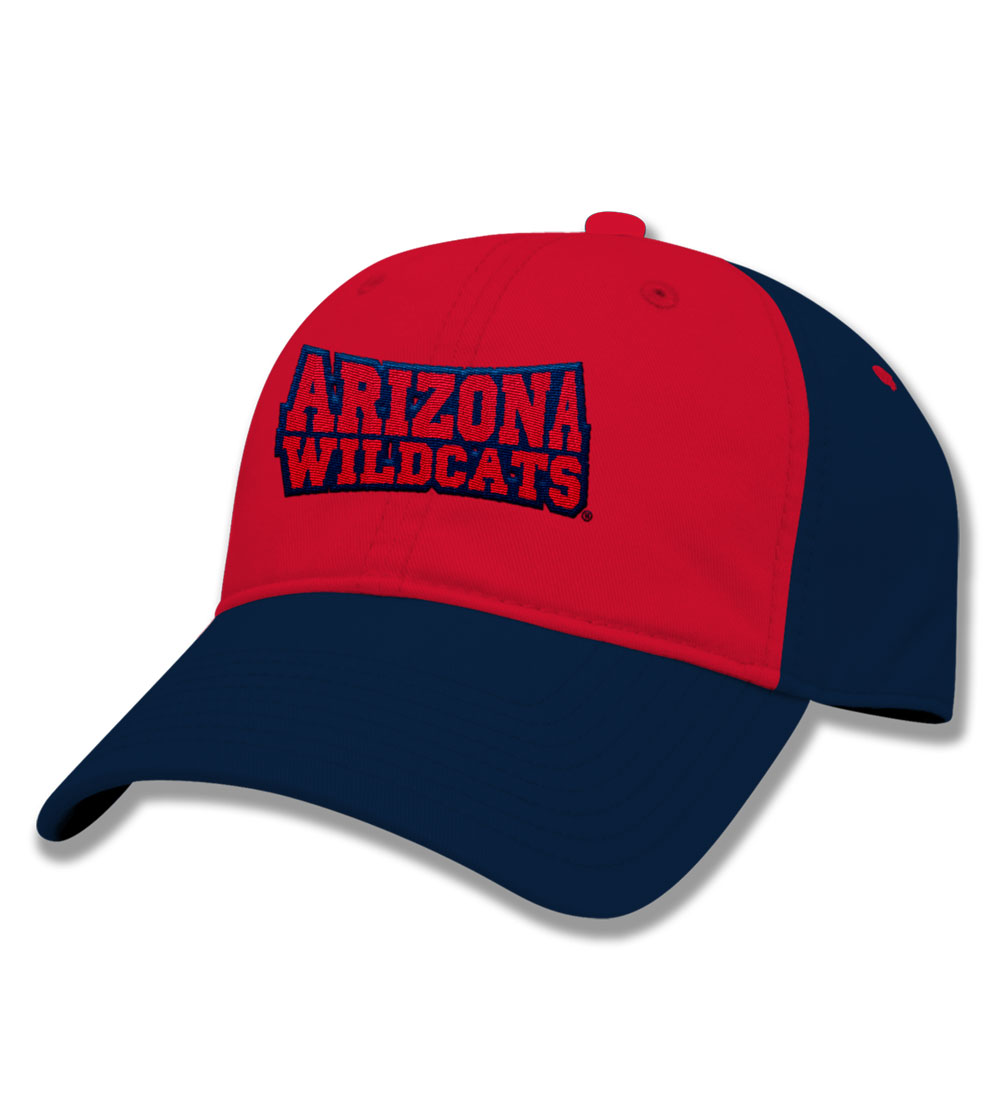 The Game: Ariozna Wildcats Youth Slugger Navy/Red Cap
