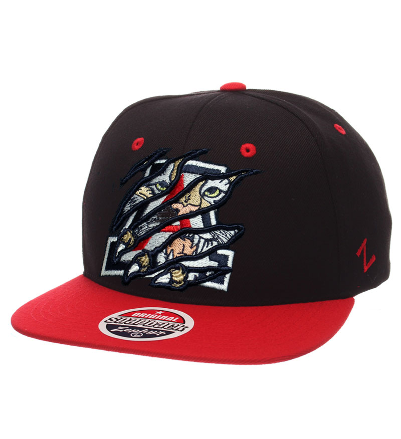Zephyr: Arizona Wildcat Scratch Snapback Navy/Red Cap