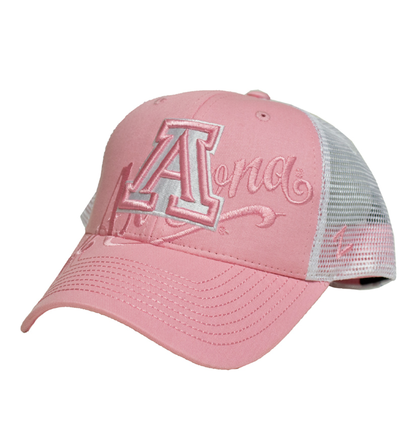 Zephyr: Arizona Sweetheart Trucker Hat Pink/White