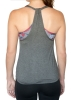 Kadyluxe: Arizona Grey/Floral Half-Time 2-fer Sports Bra thumbnail