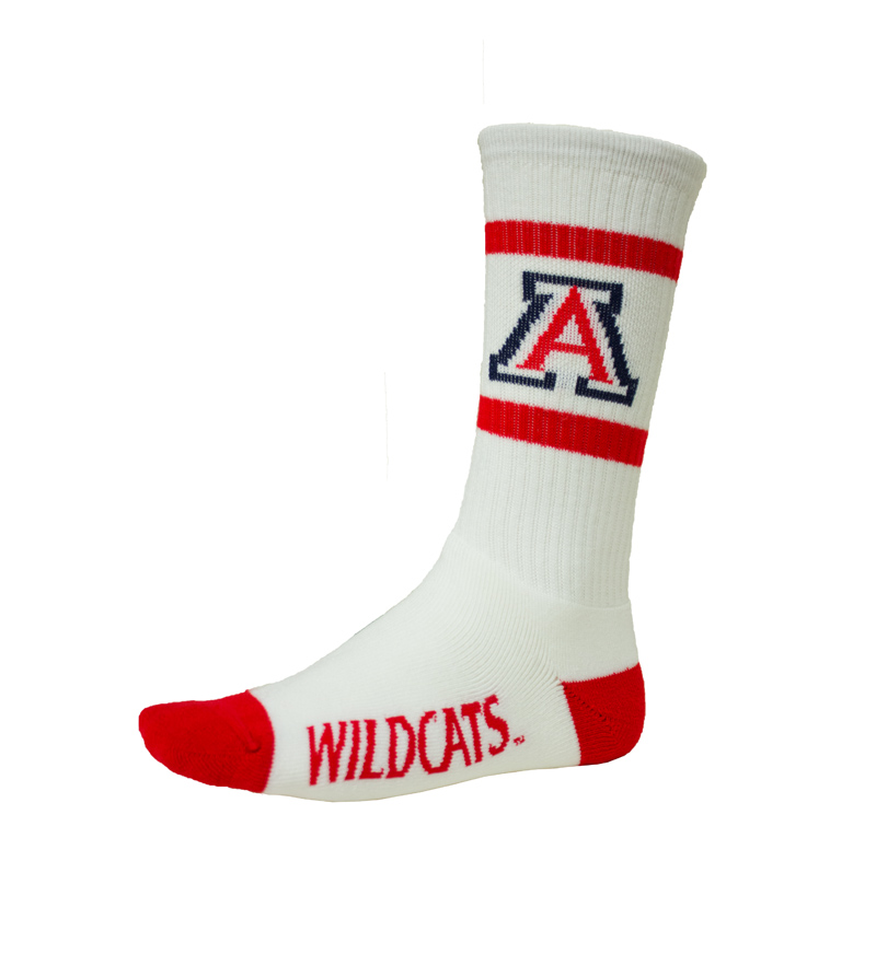 Socks: White/ Red Wildcats 'A'