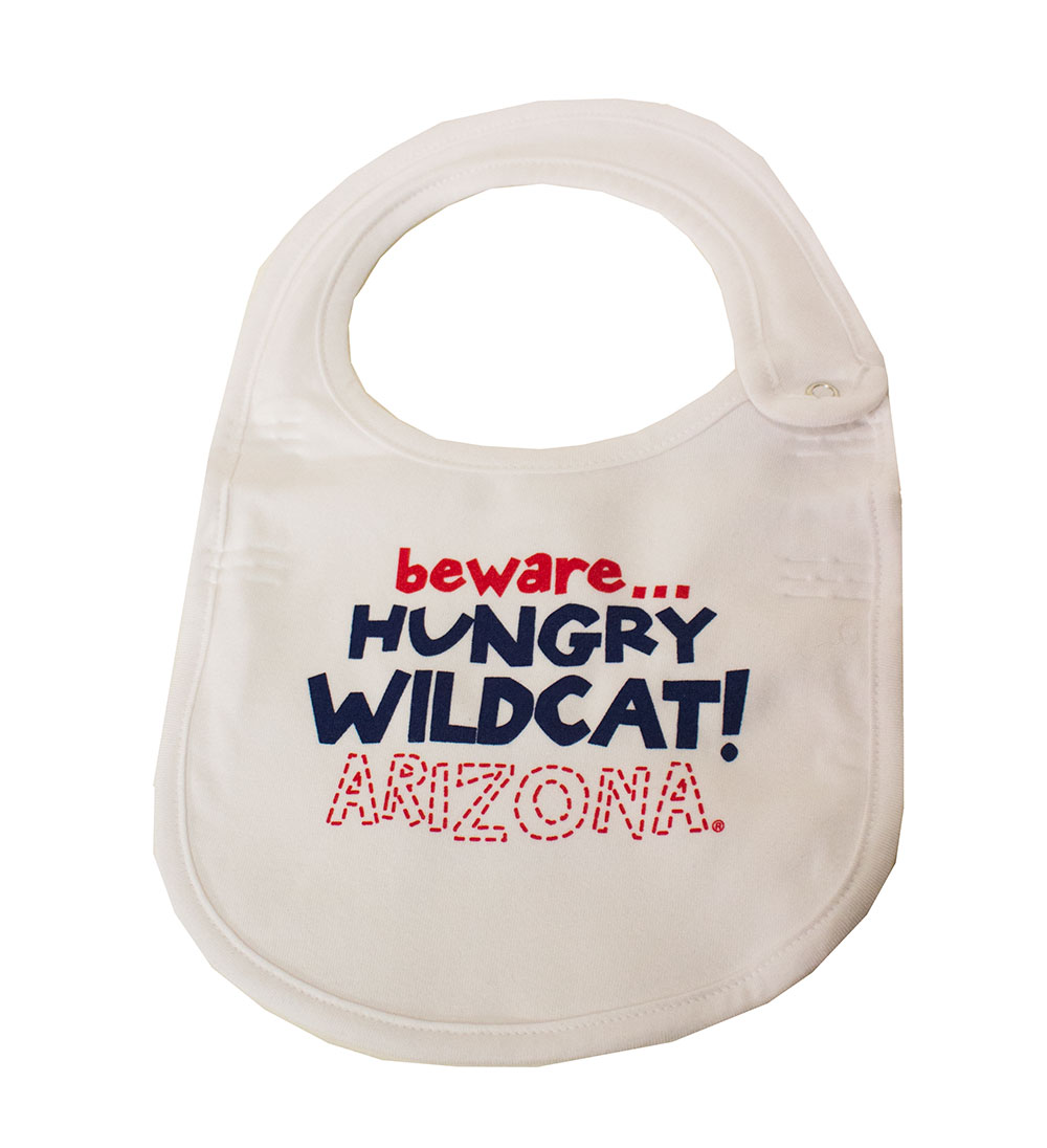 College Kids: Beware...Hungry Wildcat! Arizona Red Bib