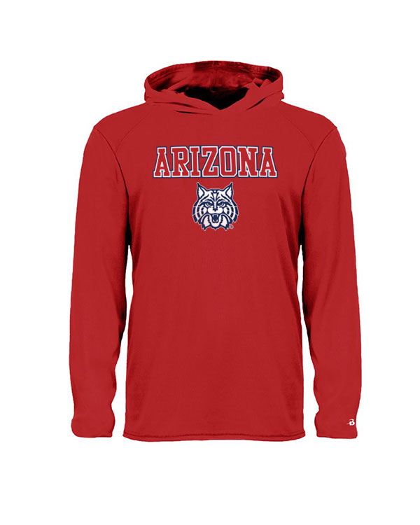 Badger Sport: Arizona Wildcat - B-Core Youth Hood Tee Red