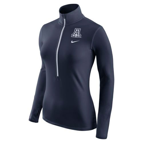 Nike: Arizona Women's Pro Hyperwarm Half-Zip Navy