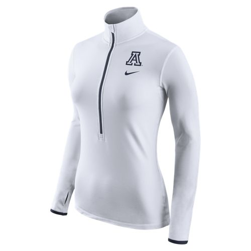Nike: Arizona Women's Pro Hyperwarm Half-Zip White