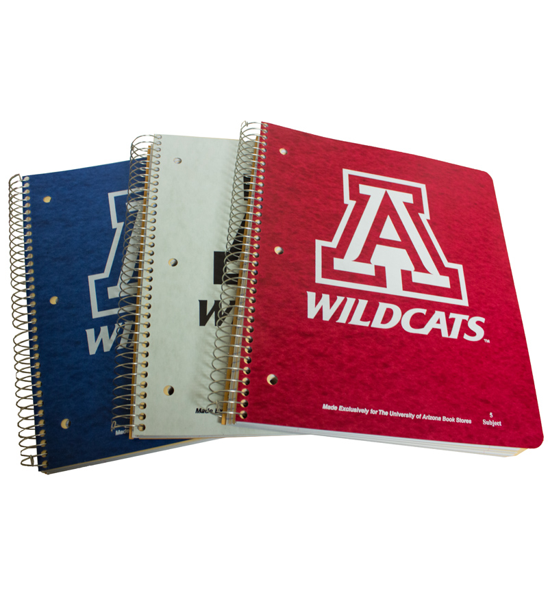 Notebooks: Block 'A' Wildcats 5-Subjects