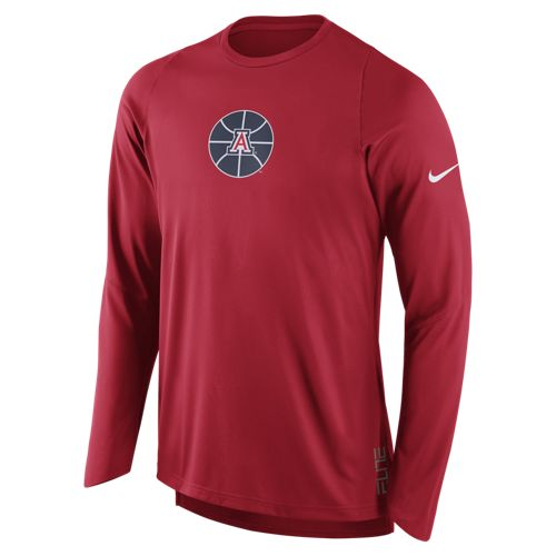 Nike: Arizona Wildcats ELITE Shooter Long Sleeve Shirt Red