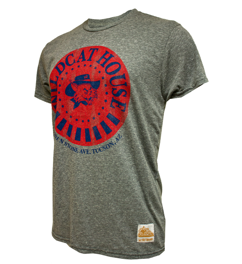 Retro Brand: Arizona Wildcat House Vintage Wilbur Tee Gray