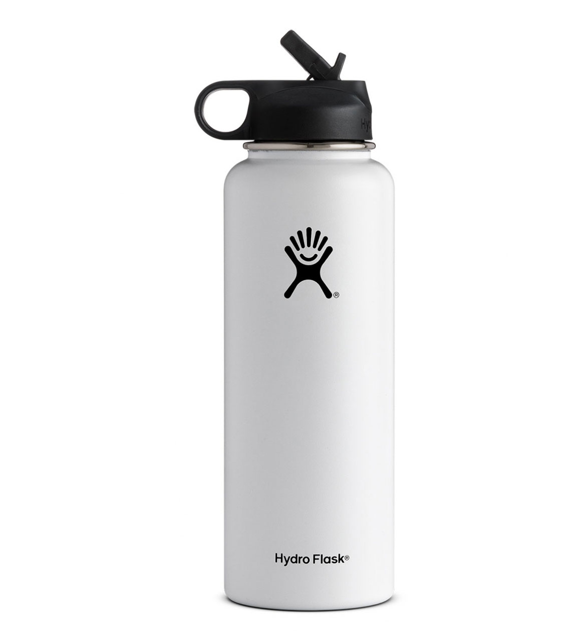 Hydro Flask: 40 oz Wide Mouth w/ Straw Lid-White
