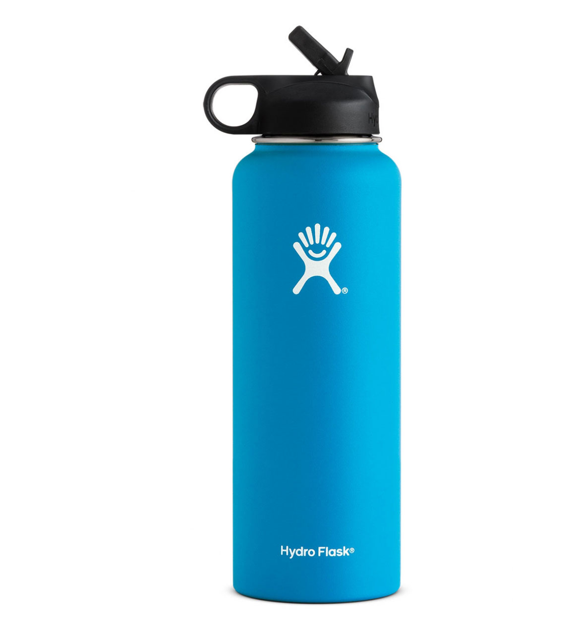 Hydro Flask: 40 oz Wide Mouth w/ Straw Lid-Pacific