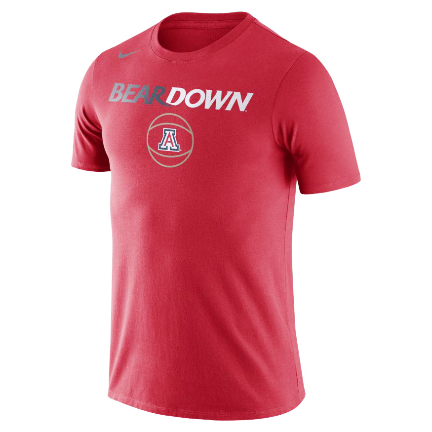 Nike: Arizona Bear Down Men's Basketball Red Tee