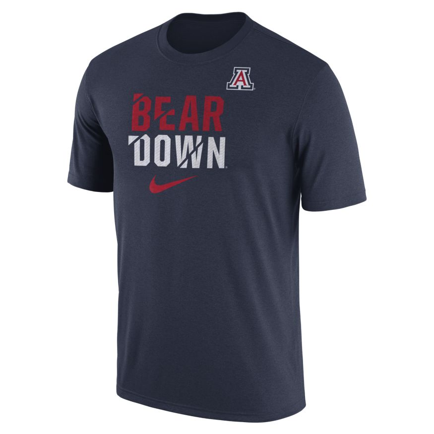 Nike: Arizona Bear Down Legend Ignite Navy Tee