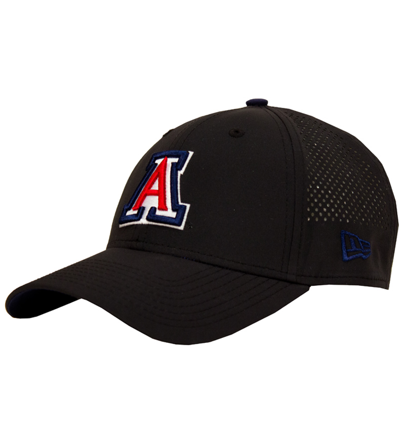 New Era: Arizona Logo Perf Pivot 9Forty Adjustable Cap-Black