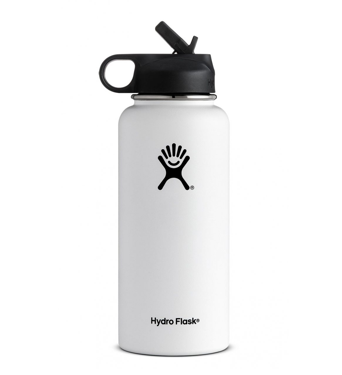Hydro Flask: 32 oz Wide Mouth w/ Straw Lid-White