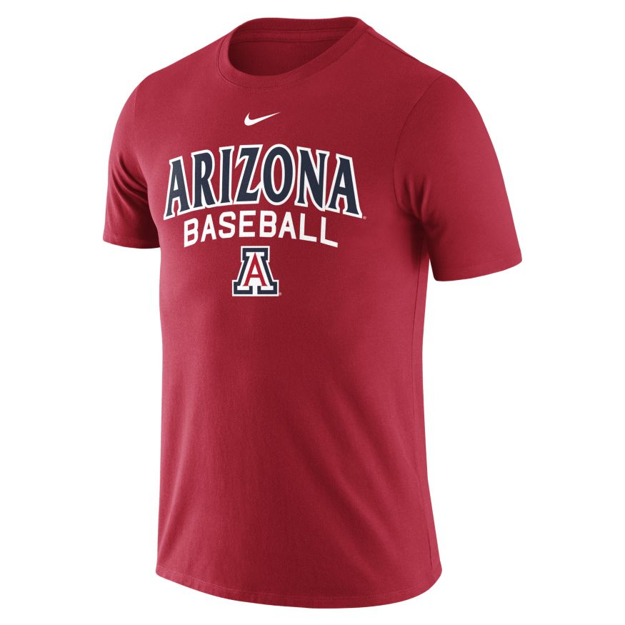 Nike: Arizona Baseball Cotton Script Red Tee