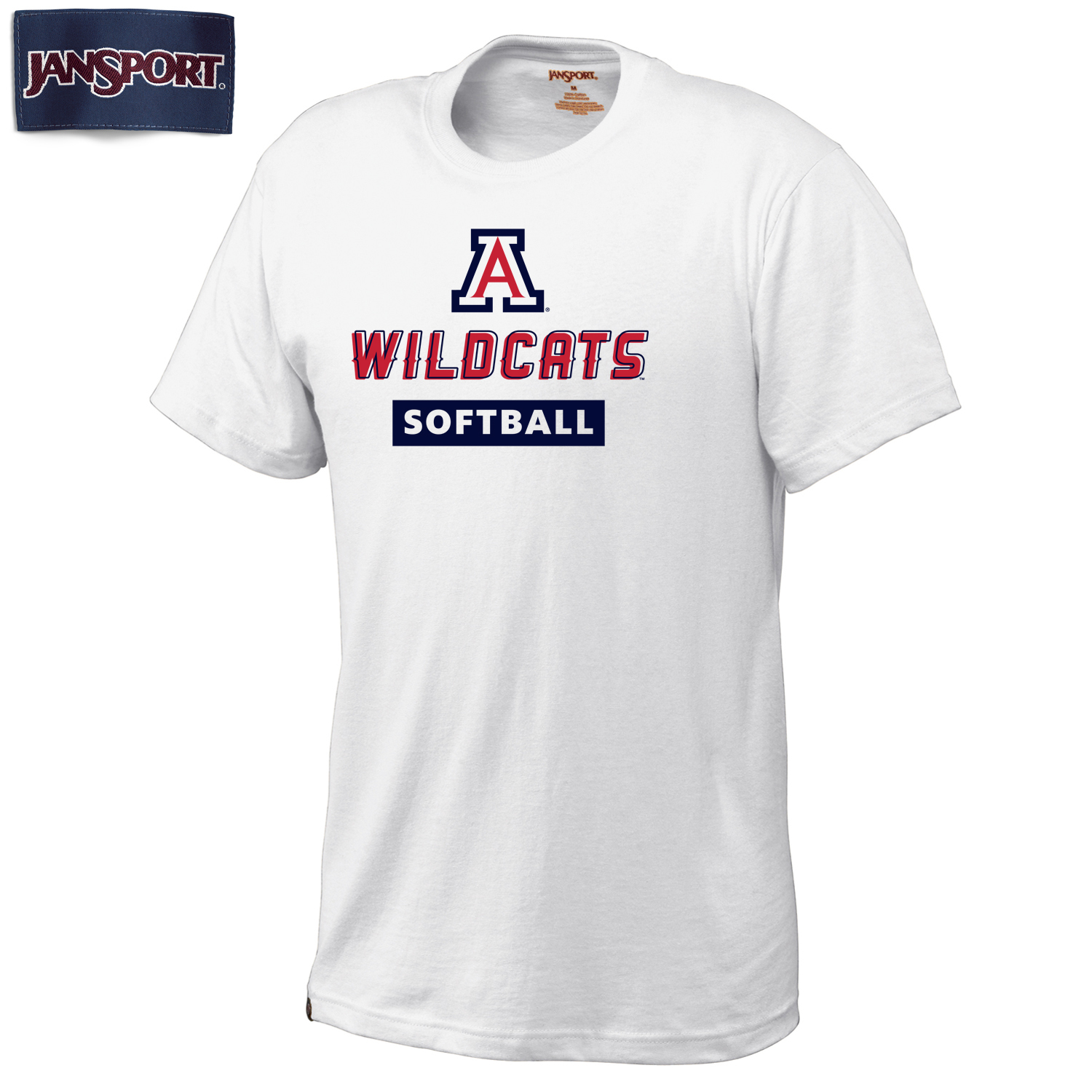 JanSport: Arizona Wildcats Softball Universitee-White